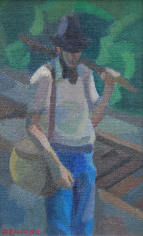 Standing Figure on Railroad