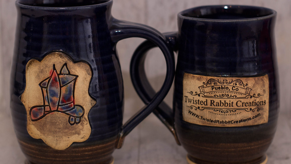Blue Twisted Rabbit Mugs