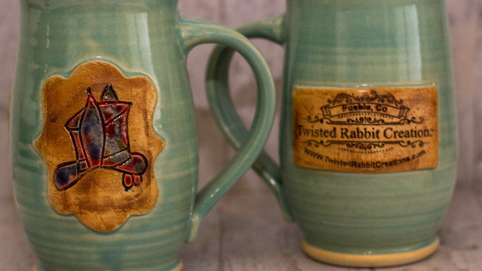 Green Twisted Rabbit Mugs