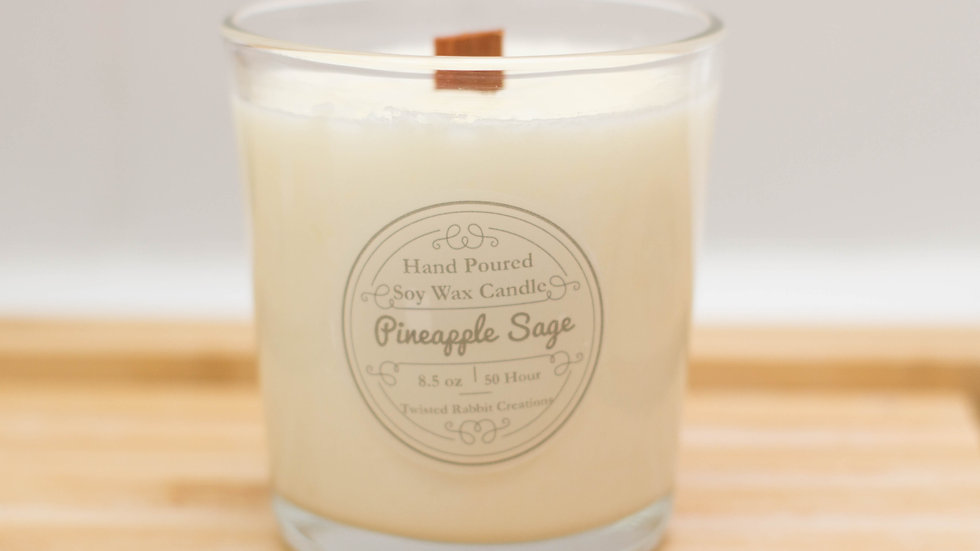 Pineapple Sage Wood Wick Candle