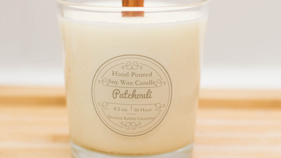 Patchouli Wood Wick Candle