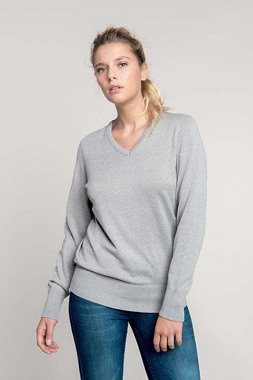 Pullover De Senhora Decote V