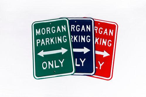 Morgan Parking Email Schild