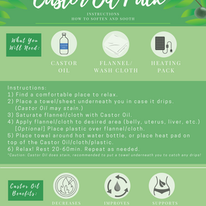 Castor Oil Pack - Instructions - Infographic