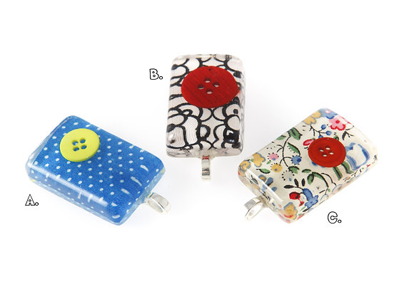 Fabric Tablet Pendant selection one