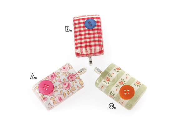 Fabric Tablet pendant Selection Two