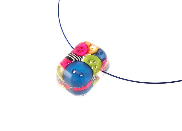 Button Barrell Pendant