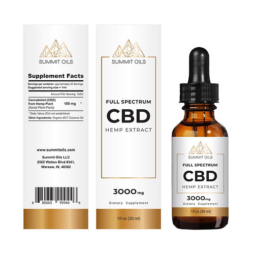 3000mg Pure Full Spectrum CBD Hemp Extract