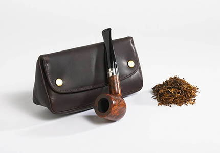 Peterson Deluxe Leather 1 Pipe Combo Pouch