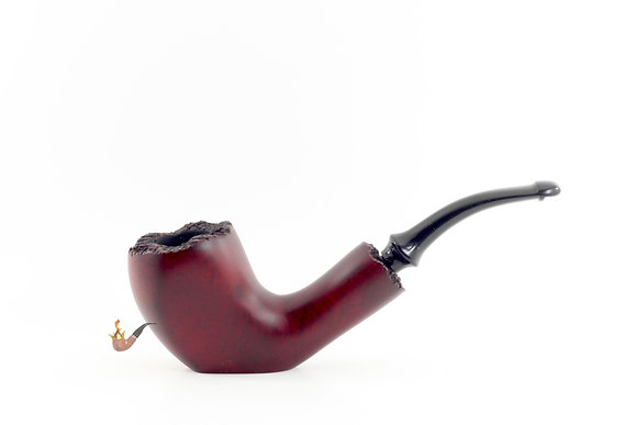 Italian Made Freehand Pipe Smooth Red Sitter