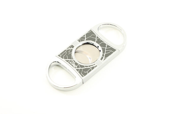 Zino Double Blade Cigar Cutter Tobacco Leaf Gray