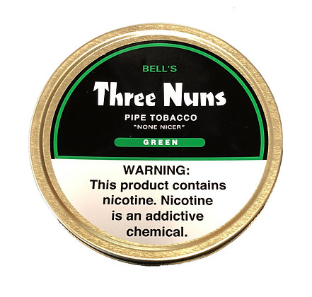 Three Nuns Pipe Tobacco Green 1.75oz Tin