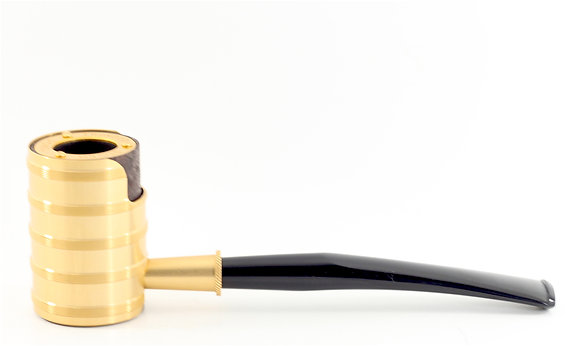 Tsuge Thunderstorm Gold Pipe