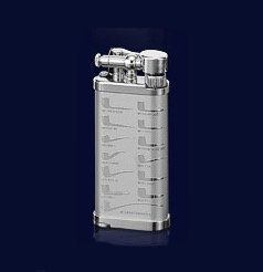 Corona Old Boy Rhodium Shapes Pipe Lighter 646415