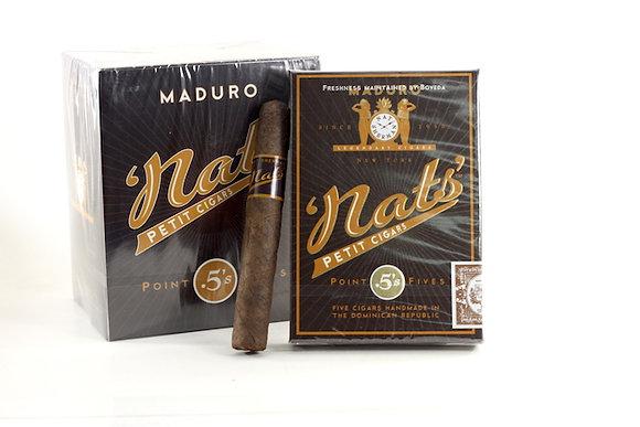 Nat Sherman Nat's Point Fives Cigars Maduro 25pk