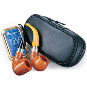 Peterson Classic Leather Medium 2 Pipe Case