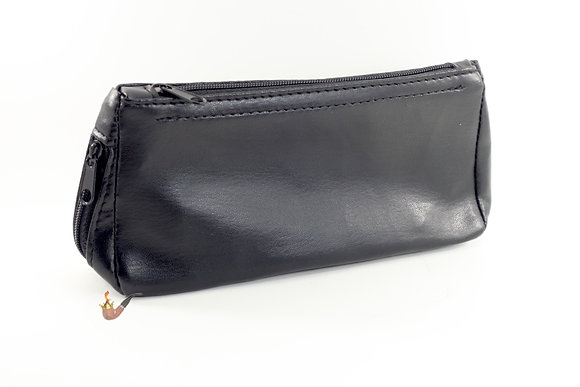 Vinyl Pipe and Tobacco Carry Case Black