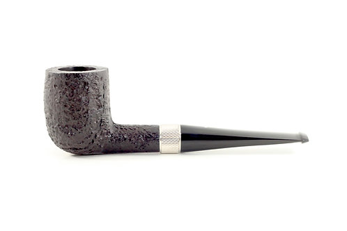 Dunhill Shell Briar Pipe Sterling Billiard 510312