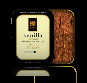 Mac Baren Vanilla Cream Flake Pipe Tobacco 50g Tin