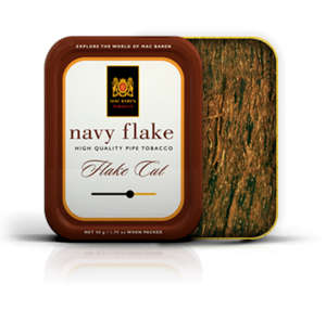 Mac Baren Navy Flake Pipe Tobacco 100g Tin