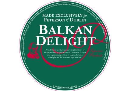 Peterson Balkan Delight Pipe Tobacco 50g Tin