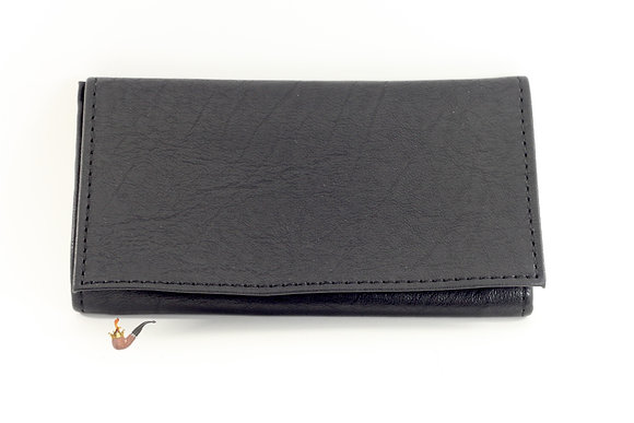Black Vinyl Pipe Tobacco Roll up pouch
