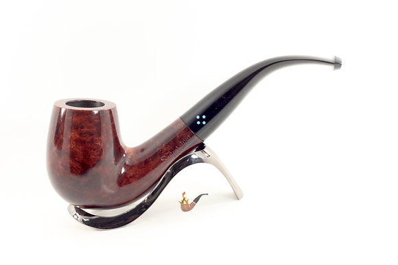 Sasieni 4 Dot Walnut Pipe 1077XL Bent Billiard