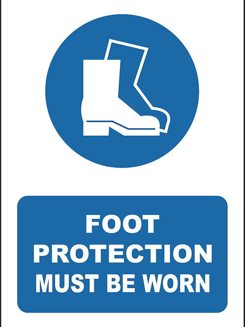 Foot Protection Must Be Worn Sign / Self Adhesive Print