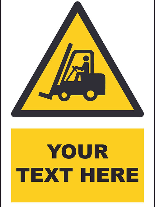 Personalised Fork Lift Symbol Sign