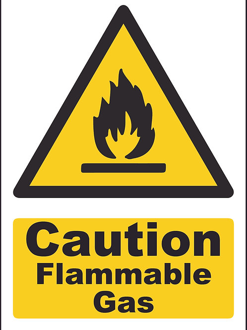 Caution Flammable Gas