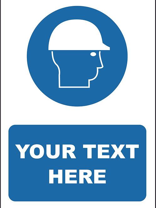 Personalised Helmet Symbol Sign / Self Adhesive Print