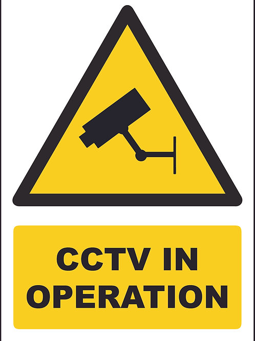 CCTV In Operation Sign / Self Adhesive Print