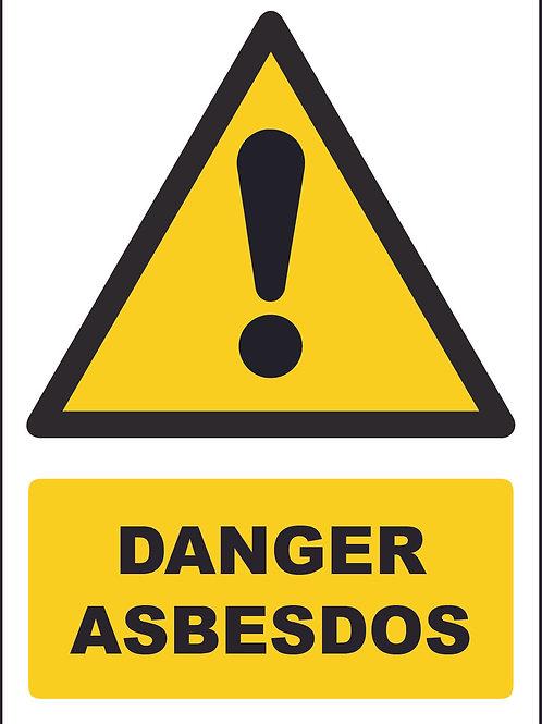 Danger Asbesdos Sign / Self Adhesive Print