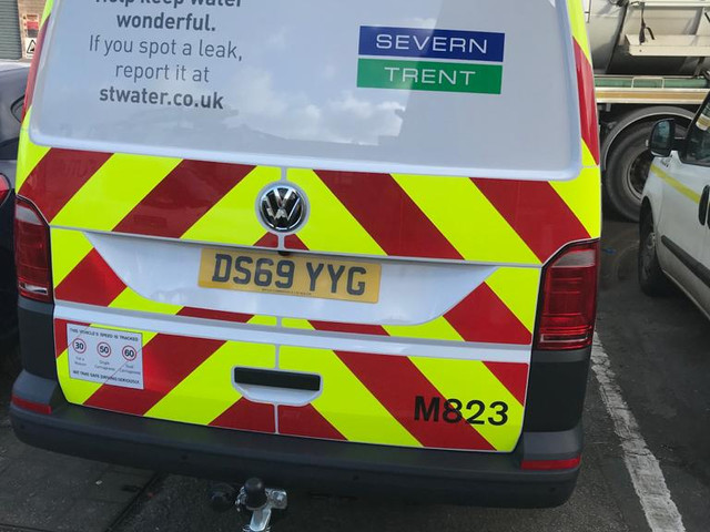 Severn Trent Rear Chevrons & Graphics Installed