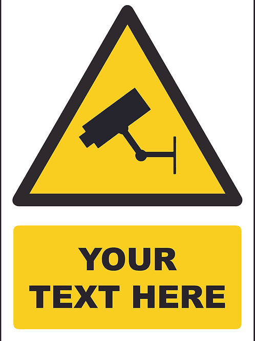 Personalised CCTV Symbol Sign