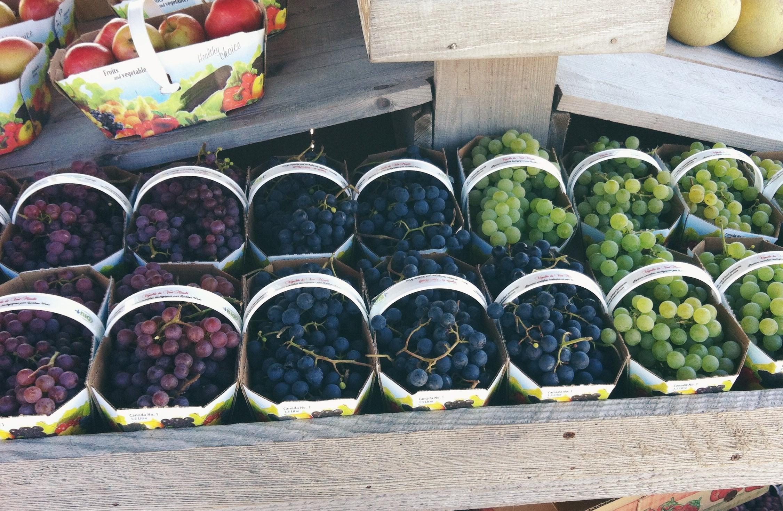 Raisins de table biologiques