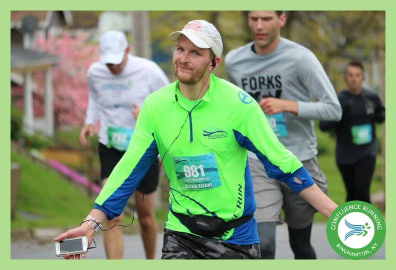 Running the Binghamton Bridge Run in May 2017
