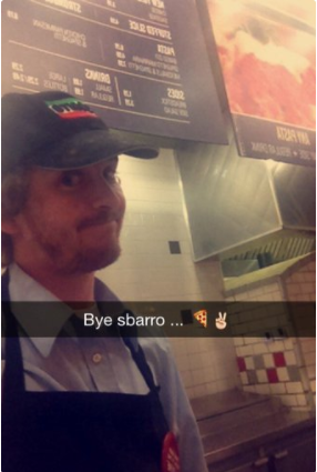 Last day at Sbarro