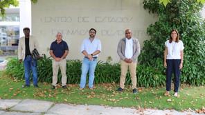 PRESIDENTE DA FEDERAÇÃO DE FUTEBOL DA GUINÉ VISITOU COMPLEXO DESPORTIVO DE RIO MAIOR