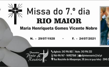 RIO MAIOR - MISSA DO 7.º DIA
