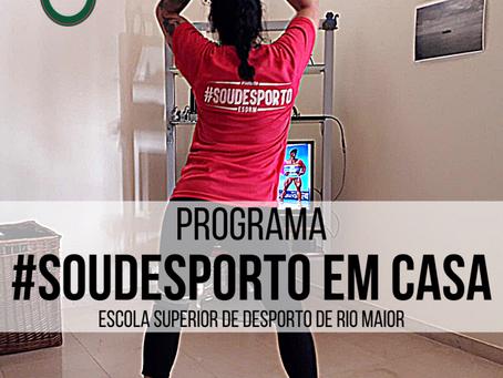 ESDRM LANÇA PROGRAMA #SOUDESPORTO EM CASA