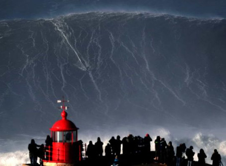 NAZARÉ OFERECE AS MELHORES ONDAS DO MUNDO PARA SURFAR