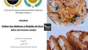 """MAGIRUS DISTINGUIDO O """"MELHOR DOS MELHORES"""" NO 10.º CONCURSO NACIONAL DE PÃO TRADICIONAL PORTUGUÊS"""
