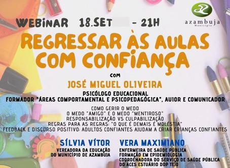 """MUNICÍPIO DE AZAMBUJA ORGANIZA WEBINAR """"REGRESSAR ÀS AULAS COM CONFIANÇA"""""""