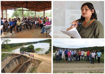 EMATER apresenta projeto de piscicultura aos Xakriabá