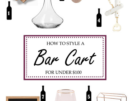 How to Style a Bar Cart for Under $100