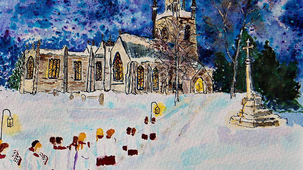 St Marys Church Ross-on-Wye at Christmas
