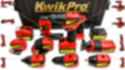 10 KwikPro Gold power tools fit in one easy to carry case