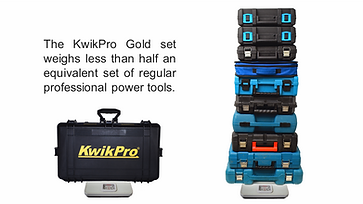 KwikPro weighs half regular power tools set