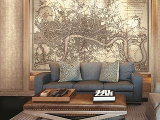 """Map of Old London"" Wallcovering"